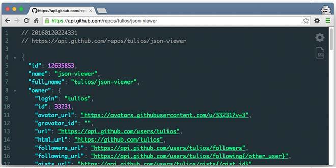 Полезные расширения для Google Chrome JSON Viewer