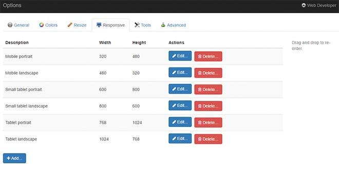 Полезные расширения для google chrome Web Developer