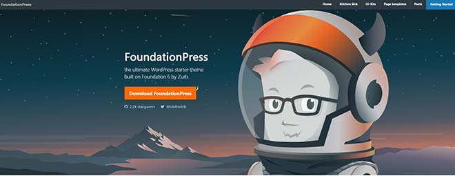 Стартовая тема WordPress FoundationPress
